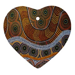 Aboriginal Traditional Pattern Ornament (Heart)