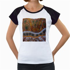 Aboriginal Traditional Pattern Women s Cap Sleeve T