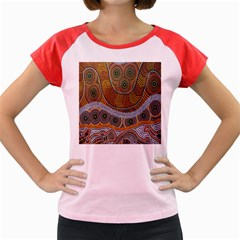 Aboriginal Traditional Pattern Women s Cap Sleeve T-Shirt