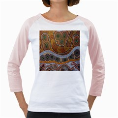Aboriginal Traditional Pattern Girly Raglans
