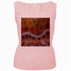 Aboriginal Traditional Pattern Women s Pink Tank Top