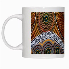 Aboriginal Traditional Pattern White Mugs