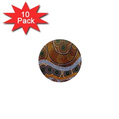 Aboriginal Traditional Pattern 1  Mini Magnet (10 pack)