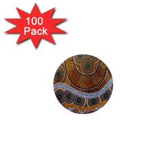 Aboriginal Traditional Pattern 1  Mini Magnets (100 pack)
