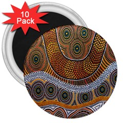 Aboriginal Traditional Pattern 3  Magnets (10 pack)