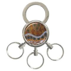 Aboriginal Traditional Pattern 3-Ring Key Chains