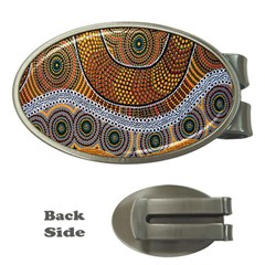 Aboriginal Traditional Pattern Money Clips (Oval)