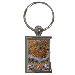 Aboriginal Traditional Pattern Key Chains (Rectangle)