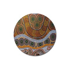 Aboriginal Traditional Pattern Magnet 3  (Round)