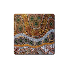 Aboriginal Traditional Pattern Square Magnet