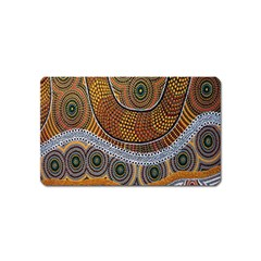 Aboriginal Traditional Pattern Magnet (Name Card)