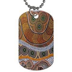Aboriginal Traditional Pattern Dog Tag (One Side)