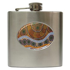 Aboriginal Traditional Pattern Hip Flask (6 oz)