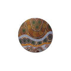 Aboriginal Traditional Pattern Golf Ball Marker (4 pack)