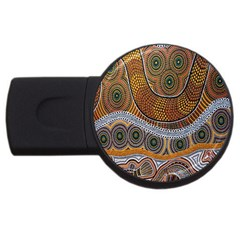 Aboriginal Traditional Pattern USB Flash Drive Round (1 GB)