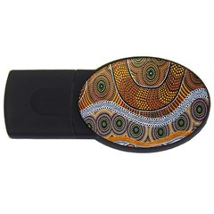 Aboriginal Traditional Pattern USB Flash Drive Oval (2 GB)