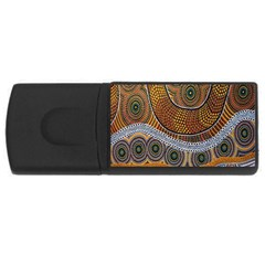 Aboriginal Traditional Pattern USB Flash Drive Rectangular (2 GB)