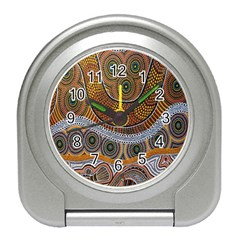 Aboriginal Traditional Pattern Travel Alarm Clocks