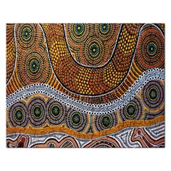 Aboriginal Traditional Pattern Rectangular Jigsaw Puzzl