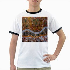 Aboriginal Traditional Pattern Ringer T-Shirts