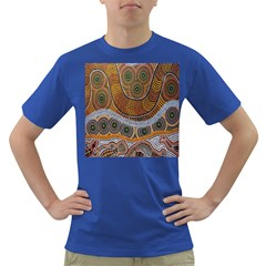 Aboriginal Traditional Pattern Dark T-Shirt