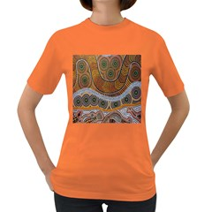 Aboriginal Traditional Pattern Women s Dark T-Shirt