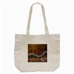 Aboriginal Traditional Pattern Tote Bag (Cream)
