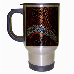 Aboriginal Traditional Pattern Travel Mug (Silver Gray)