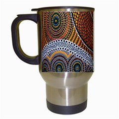 Aboriginal Traditional Pattern Travel Mugs (White)
