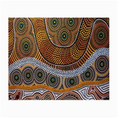 Aboriginal Traditional Pattern Small Glasses Cloth