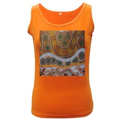 Aboriginal Traditional Pattern Women s Dark Tank Top
