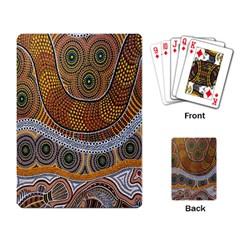 Aboriginal Traditional Pattern Playing Card