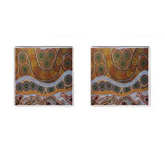 Aboriginal Traditional Pattern Cufflinks (Square)