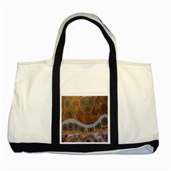 Aboriginal Traditional Pattern Two Tone Tote Bag