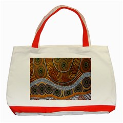 Aboriginal Traditional Pattern Classic Tote Bag (Red)