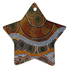 Aboriginal Traditional Pattern Star Ornament (Two Sides)