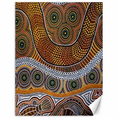 Aboriginal Traditional Pattern Canvas 12  x 16
