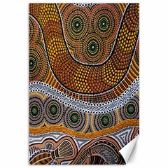 Aboriginal Traditional Pattern Canvas 12  x 18