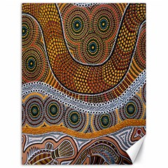 Aboriginal Traditional Pattern Canvas 18  x 24