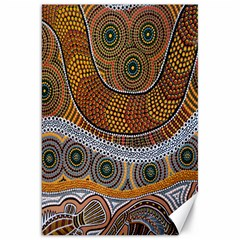 Aboriginal Traditional Pattern Canvas 20  x 30