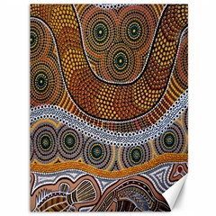 Aboriginal Traditional Pattern Canvas 36  x 48