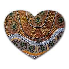 Aboriginal Traditional Pattern Heart Mousepads