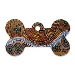 Aboriginal Traditional Pattern Dog Tag Bone (One Side)