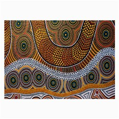 Aboriginal Traditional Pattern Large Glasses Cloth