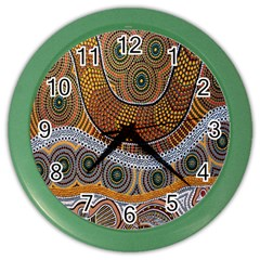 Aboriginal Traditional Pattern Color Wall Clocks