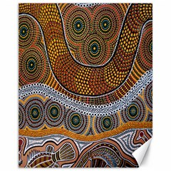 Aboriginal Traditional Pattern Canvas 11  x 14