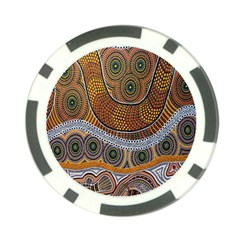 Aboriginal Traditional Pattern Poker Chip Card Guard