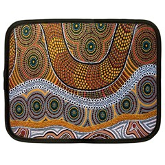 Aboriginal Traditional Pattern Netbook Case (Large)