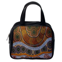 Aboriginal Traditional Pattern Classic Handbags (One Side)