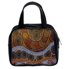 Aboriginal Traditional Pattern Classic Handbags (2 Sides)